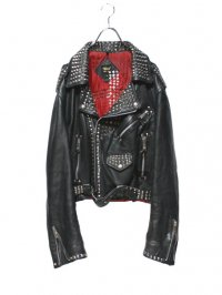 【USED】<br>CROSS STUDS RIDERS JACKET