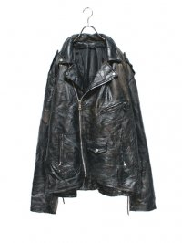 【USED】<br>PATCHWORK LEATHER BIG RIDERS JACKET
