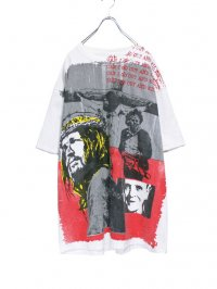 【USED CUSTOM】<br>JESUS CHRIST ALL-OVER PRINT Tee