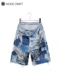 【NOiSE CRAFT】<br>BORO SHORTS
