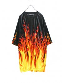 【USED】<br> FIRE GRAPHIC CUT SEW
