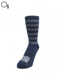 【GanaG Socks】<br>Double Happiness Socks / NAVY