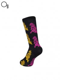 【GanaG Socks】<br>Japanese tribe Socks / BLACK EMPEROR