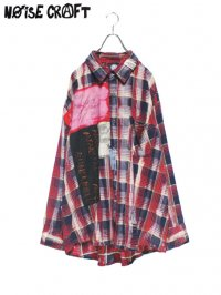 【NOiSE CRAFT】<br>BIG ANARCHY FLANNEL SHIRT (A)