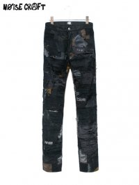 【NOiSE CRAFT】<br>CRUST SKINNY DENIM PANTS / BLACK
