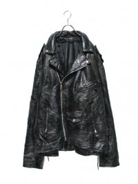 【USED】<br>PATCHWORK LEATHER<br>BIG DOUBLE RIDERS JACKET