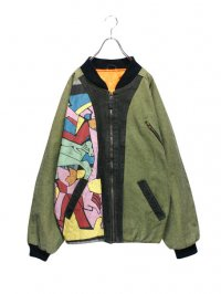 【USED】<br>ART PAINT BOMBER JACKET
