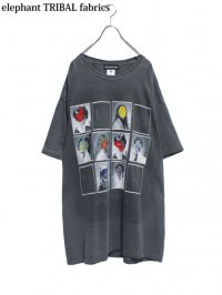 【elephant TRIBAL fabrics】<br>GRAPHIC BIG Tee (A) / BLACK