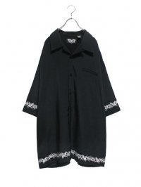 【USED】<br>TRIBAL EMBROIDERY<br>BIG OPEN COLLAR SHIRT