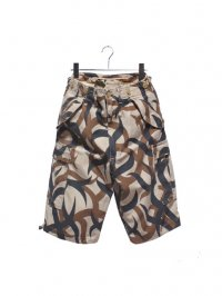 【USED】<br>TRIBAL CAMOUFLAGE<br>CARGO SHORT PANTS