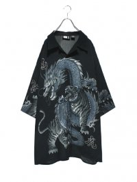 【USED】<br>TIGER & DRAGON<br>2XL BIG OPEN COLLAR SHIRT