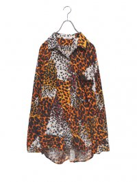 【USED】<br>LEOPARD PATTERN<br>OPEN COLLAR SHIRT