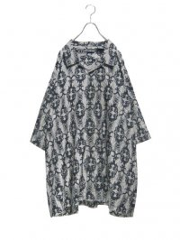 【USED】<br>CELTIC & TRIBAL PATTERN<br>3XL BIG OPEN COLLAR SHIRT