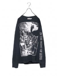 【USED】<br>ARM PRINT LONG SLEEVE BAND Tee