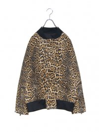 【USED】<br>LEOPARD BOMBER JACKET