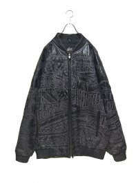 【USED】<br>STITCH ALLOVER PATTERN<br>SUPER BIG LEATHER JACKET