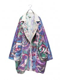 【USED】<br>HAND PAINTED<br>DOLMAN OVERSIZED COAT