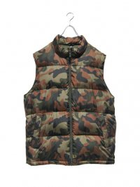 【USED】<br>CAMOUFLAGE SUPER BIG DOWN VEST