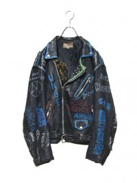 【USED】<br>PAINT & STUDS CUSTOM<br>LEATHER RIDERS JACKET