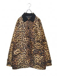 【USED】<br>LEOPARD SILK QUILTING JACKET