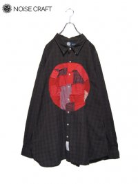 【NOiSE CRAFT】<br>日の丸 CRUST BIG SHIRT