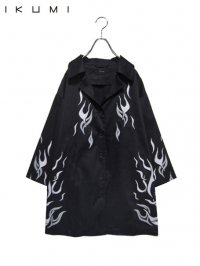 【IKUMI】<br>FIRE SHIRT / BLACK