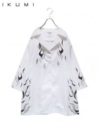 【IKUMI】<br>FIRE SHIRT / WHITE