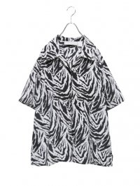 【USED】<br>ZEBRA PATTERN OPEN COLLAR SHIRT