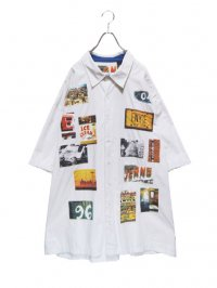 【USED】<br>PHOTO PATCH DESIGN XXXL BIG SHIRT