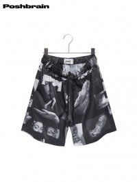 【POSHBRAIN】<br>BLURRED SHORTS