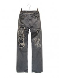 【USED】<br>DAMAGE & REPAIR CUSTOM<br>Levi's 501 DENIM PANTS