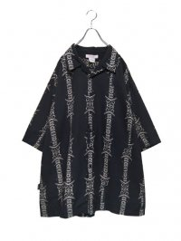 【USED】<br>BAROQUE PATTERN<br>BIG OPEN COLLAR SHIRT