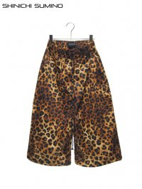 【SHINICHI SUMINO】<br>DEEP RISE WIDE LEOPARD SHORTS