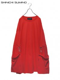 【SHINICHI SUMINO】<br>MUSLIN LONG SLEEVE Tee / RED