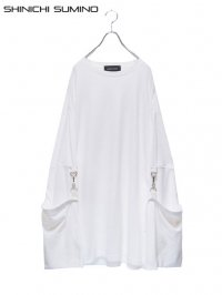 【SHINICHI SUMINO】<br>MUSLIN LONG SLEEVE Tee / WHITE