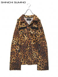 【SHINICHI SUMINO】<br>MILITARY MUSLIN LONG SLEEVE SHIRT / LEOPARD
