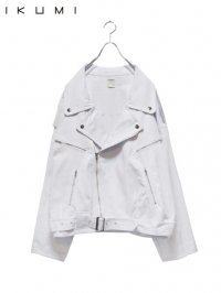 【IKUMI】<br>DENIM BIKERS / WHITE