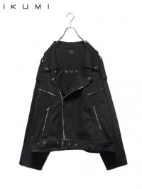 【IKUMI】<br>DENIM BIKERS / BLACK