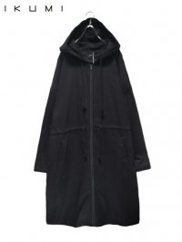 【IKUMI】<br>DENIM COAT / BLACK
