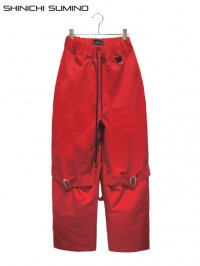 【SHINICHI SUMINO】<br>BONDAGE PANTS / RED