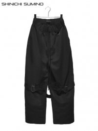 【SHINICHI SUMINO】<br>BONDAGE PANTS / BLACK