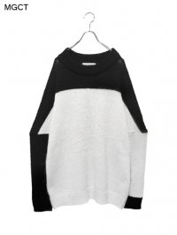 【MGCT】<br>SEDITIONARIES SWEATER / BLACK × WHITE