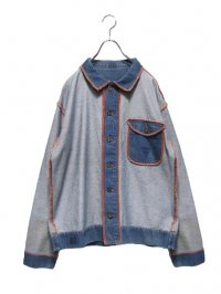 【USED】<br>INSIDE-OUT DESIGN DENIM JACKET