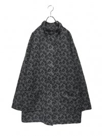 【USED】<br>LEOPARD PATTERN<BR>MELTON MIDDLE COAT