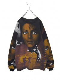 【USED】<br>''MICHAEL JACKSON''<br>FACE ALLOVER PRINT SWEAT