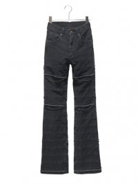 【USED】<br>''HYSTERIC GLAMOUR''<br>CRUST BOOTS CUT DENIM PANTS