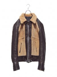 【USED】<br>LEATHER × MOUTON GRIZZLY JACKET