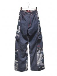 【USED】<br>DENIM × CAMOUFLAGE<br>SWITCHING RAVE PANTS