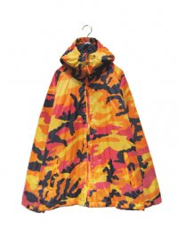 【USED】<br>CYBER COLOR CAMOUFLAGE<br>HOODED NYLON JACKET
