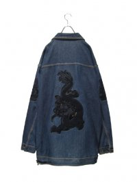 【USED】<br>DRAGON EMBROIDERY<br>SUPER BIG DENIM JACKET
